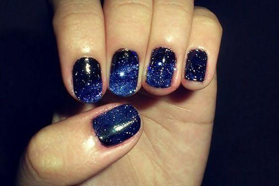 Galaxy Painted Nails