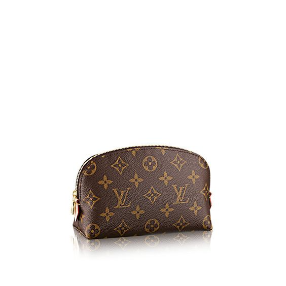 Discover Louis Vuitton Cosmetic Pouch  This compact cosmetic pouch in Monogram canvas slips easily into a handbag or suitcase. Its round shape and flat base facilitates access to small products.