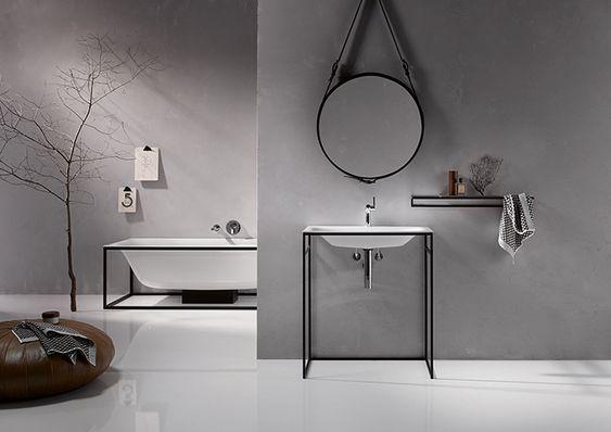 L'arredo bagno con telaio a vista è un trend recente, legato alla diffusione dello stile industriale negli interni. Foto, soluzioni, ispirazioni.