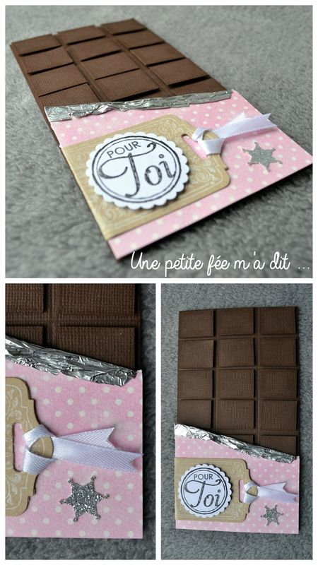 Carte tablette de chocolat cartes scrap pinterest for 1 tablette de chocolat