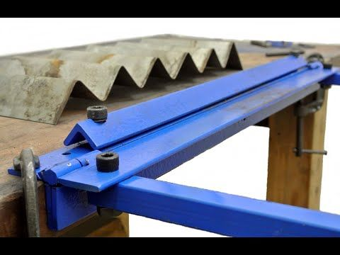 Homemade Sheet Metal Bender Youtube In 2020 Sheet Metal Bender Metal Bender Metal Fabrication Tools