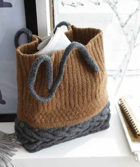 Bag pattern - FREE KNITTING pattern - I love this one too ...