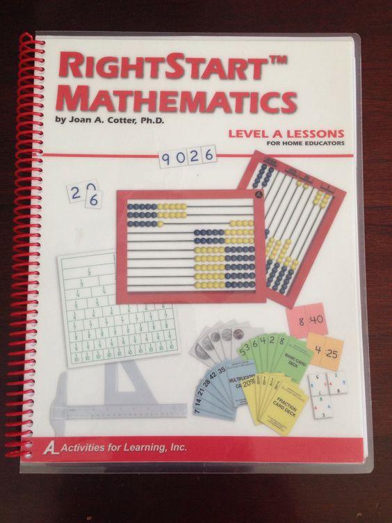 Rightstart mathematics level a. Math