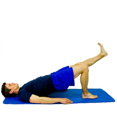 Single leg bridge modified while lying on your back for Raise bed off floor