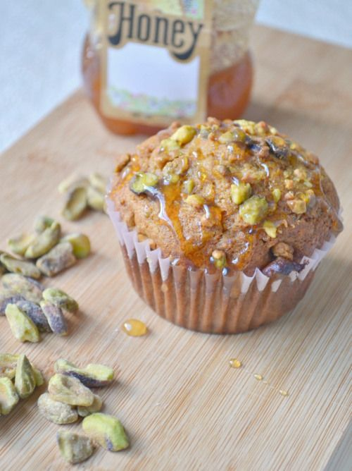 Honey Pistachio Muffins