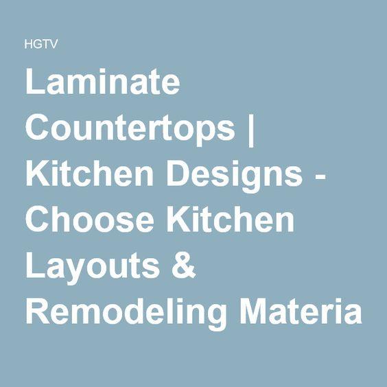 Laminate Countertops | Kitchen Designs - Choose Kitchen Layouts & Remodeling Materials | HGTV