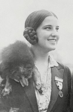 Norma Des Cygne Smallwood, a full blood Cherokee, from Tulsa, OK.  While a student at Oklahoma State Univ., she entered the Miss America pageant in 1926.  She was crowned the first Native American to win the title. Her keen business sense during her reign caused her to earn more than either Babe Ruth or the president of the U.S.A. at the time.