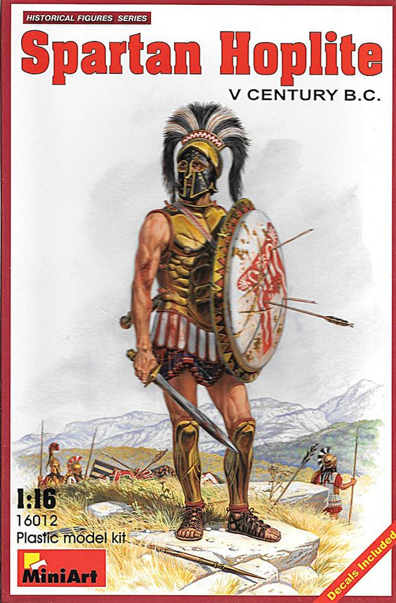 Spartan Hoplite V Century B.C 1/16, OPEN BOX, BAGS SEALED! #MiniArt