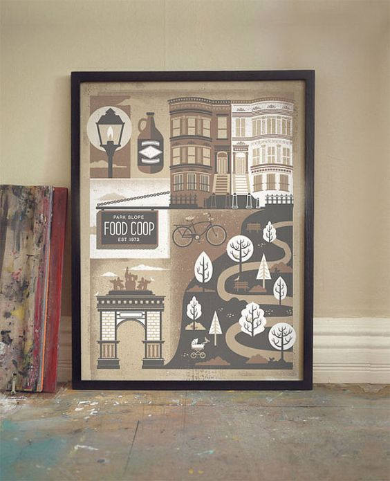 NYC Park Slope Brooklyn Art Print by Mike and Karen Arms
