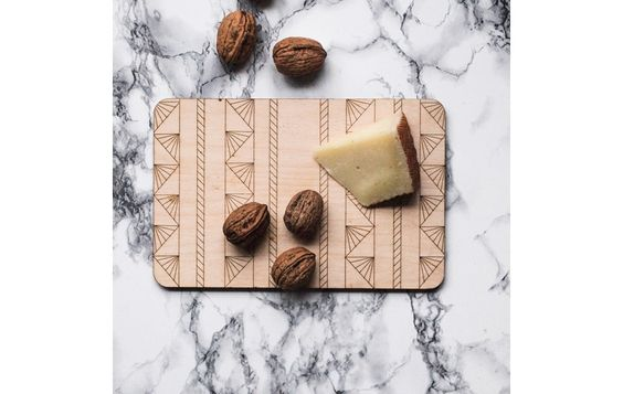 "Cheese board / Tray ""Shanghai"" by Somewhere made in Finland on CrowdyHouse"