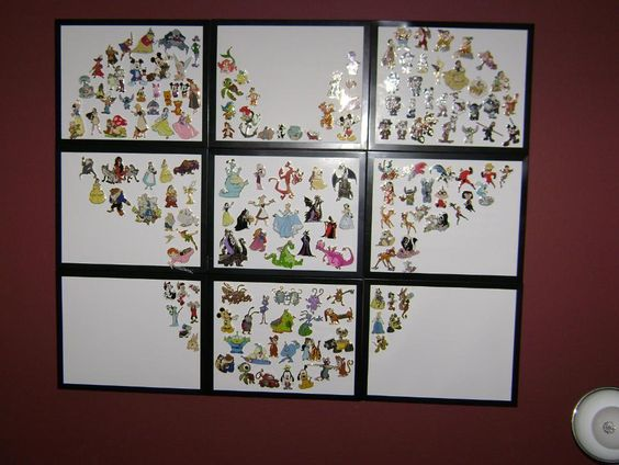 What an amazing way to display Disney pins!