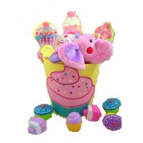 Pink Elephant Cupcake Easter Basket W Marshmallow Cupcakes and Candy Filled Cupcake Eggs.  List Price: $24.95  Sale Price: $14.25  Savings: $10.70