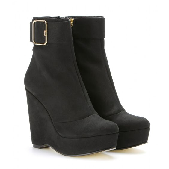 WEDGE BOOTS WITH BUCKLE