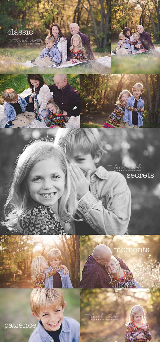 Tutorial for posing family sessions
