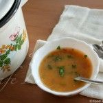 Orange lentil-tomato soup with complete protein