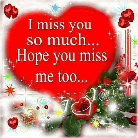 i miss you so much hope you miss me too love