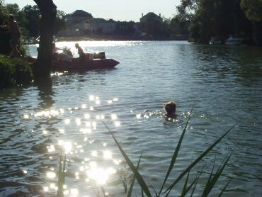 Nadar en el Río Charente