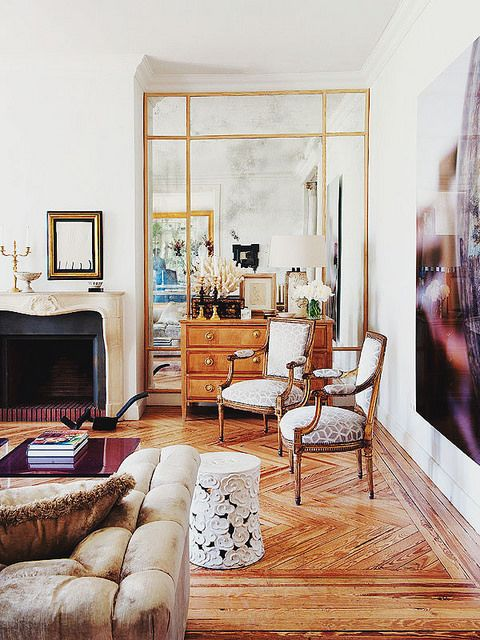 {décor inspiration | interior designer : luis puerta, madrid} by {this is glamorous}, via Flickr Mirrors, a great idea to open a space