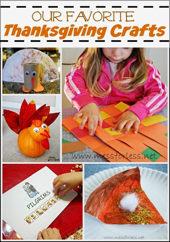 Our Favorite Thanksgiving Crafts for Kids | Mess For Less