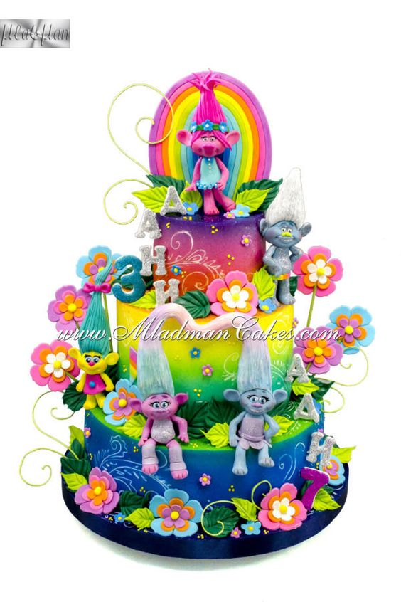 The Rainbow Throlls Cake by MLADMAN