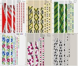 80 esquemas de crochet de 7/8 granos de circunferencia