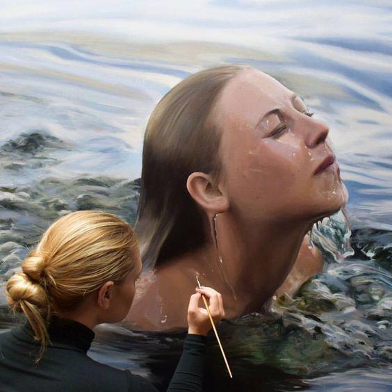 Reisha Perlmutter , Underwater Paintings #art people