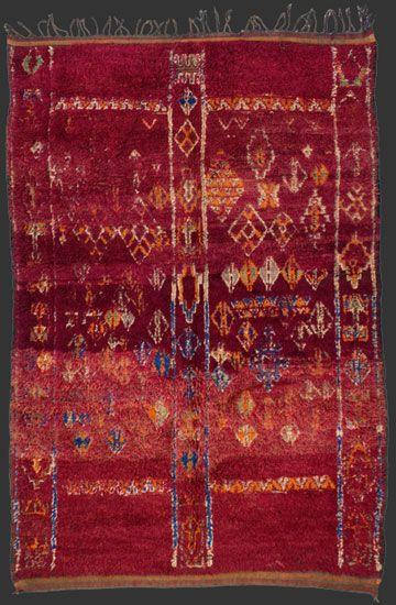 TM 1806, Beni Mguild pile rug, central Middle Atlas, Morocco, 1950s, 280 x 185 cm (9' 4'' x 6' 2''), p.o.a.
