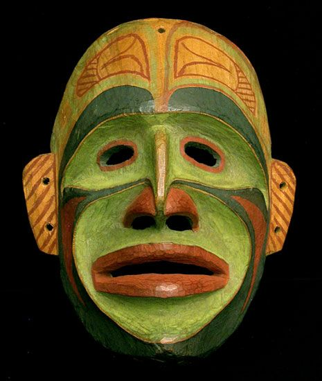 Northwest-Coast Bella-Bella Ceremonial Mask