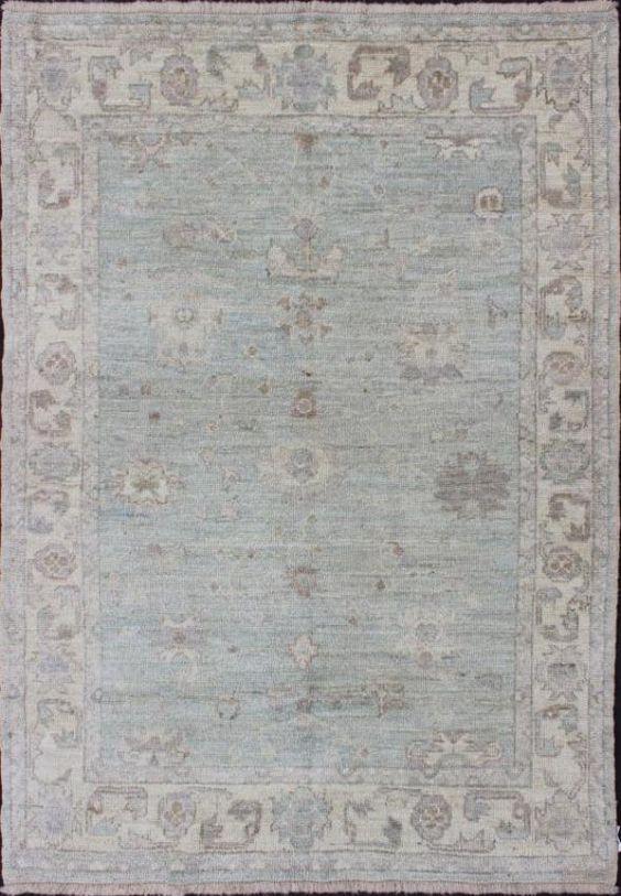 "KEIVAN WOVEN ARTS,  Type :Oushak Origin :Turkey  Size : 5'0""x7'2"""