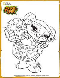 Animal Jam Liza Coloring Page Animal Jam Pinterest