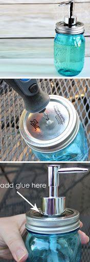 DIY Mason Jar Soap Pump | Click Pic for 16 DIY Bathroom Storage Ideas on a Budget | DIY Bathroom Storage Ideas for Small Spaces?