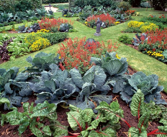 Who says a kitchen garden can't be beautiful?  Turn edible plantings into works of art with four design strategies: