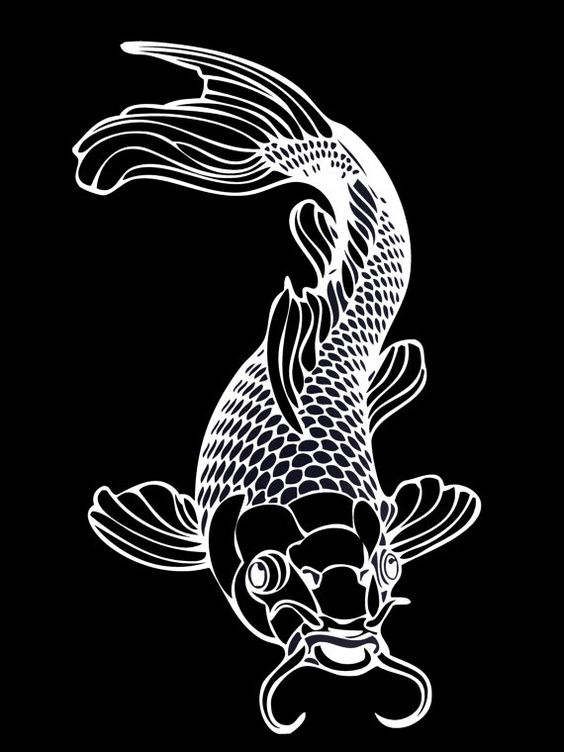 Tatoo feminine and coloring on pinterest for Koi fish wall stickers