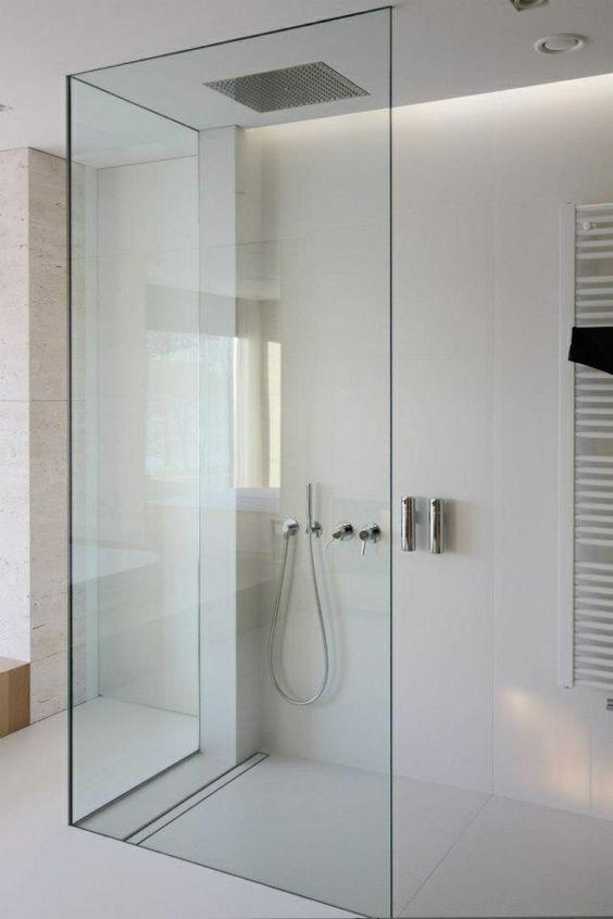 walk in dusche duschwände glas