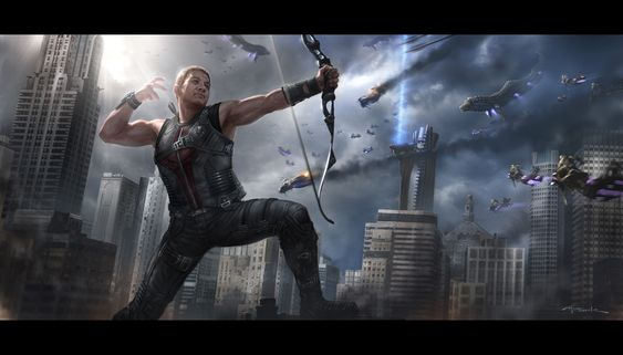 The Avengers- Hawkeye by *andyparkart on deviantART