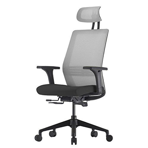 Ergonomic Office Chair With High Back Mesh And 3d Armrest Black Gray Chair Office Chair Mesh Office Chair