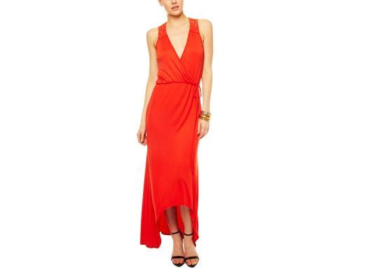 Hi-Lo Wrap Maxi Dress
