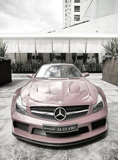 ♂ pink car Mercedes transportation