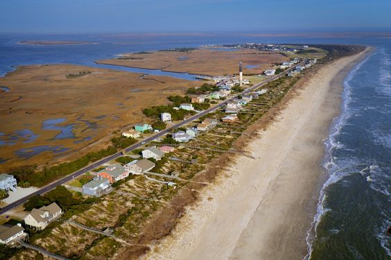 Aerial Photography of Southport / Oak Island NC area by High Tide Helicopters (Cape Fear Regional Jetport - Oak Island, NC | Tel: 910.477.1926 | Email: info@hightidehelicopters.com.