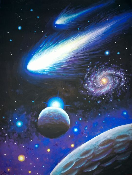 Planets And Comets Space Painting Corinazone In 2020 Space