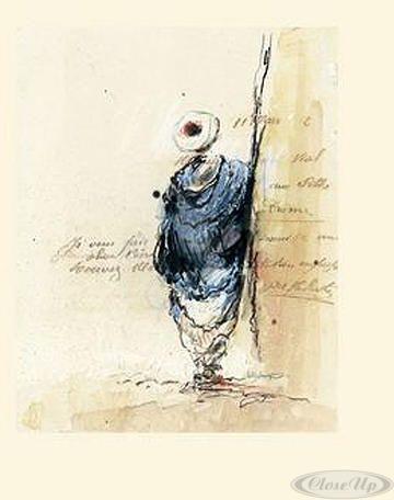 Bédouin bleu II Kunstdruck Yann Letestu - Kunstdruck