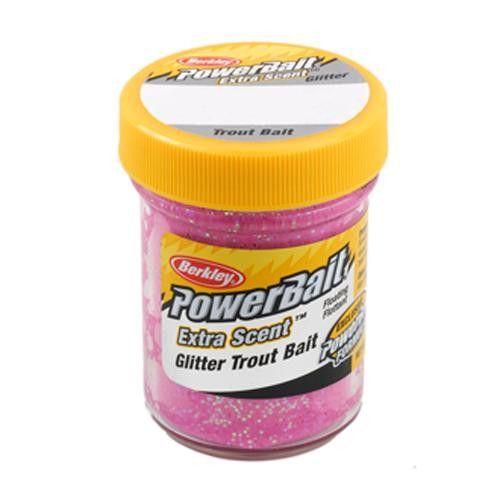 PowerBait Glitter Trout Dough Bait - Pink