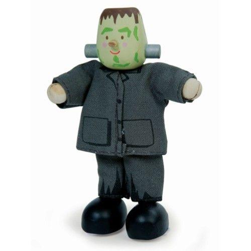 muñeco de juguete de madera budkins frankenstein
