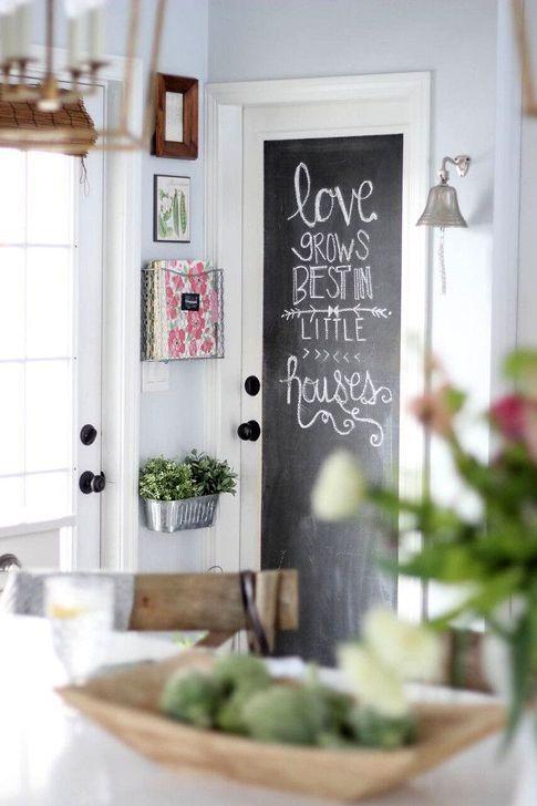 20 Creative Chalkboard Kitchen Decor Ideas Diy Door Chalkboard Door Small Pantry
