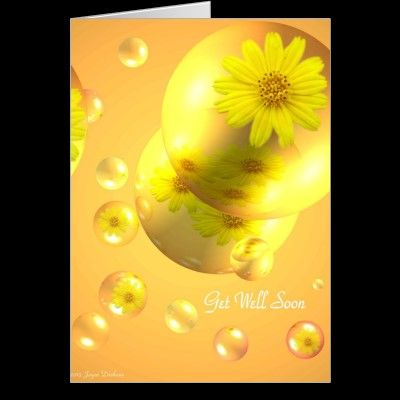 daisy Delight Get Well Soon Greeting Card
