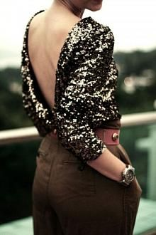 Sequins and open back
