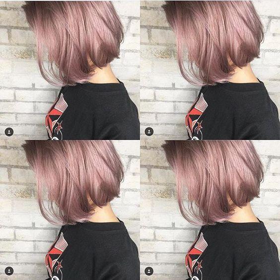 ピンクラベンダーアッシュ Mizuchael Album Hair 担当nobu Album