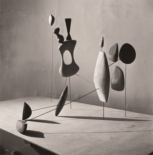 Alexander Calder . vertical constellation with yellow bone, 1943