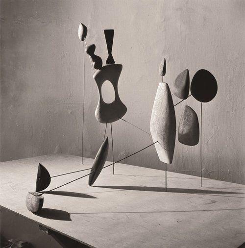 Alexander Calder . vertical constellation with yellow bone, 1943