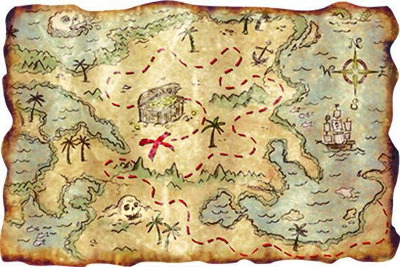 Chasse au tr sor pirates carte chasses aux tr sors for Decoration maison chasse